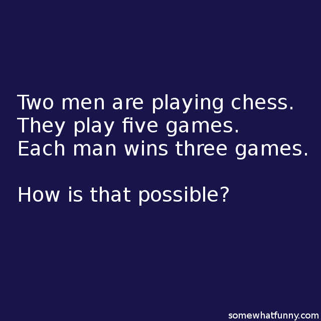 Two men are playing...
