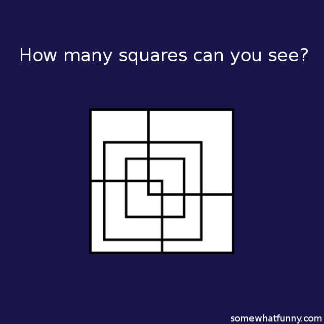 How many squares can...